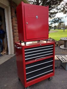 Tool cabinets and table saw