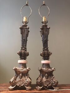 Vintage Solid Brass Table Lamps