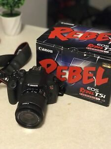 Canon Rebel T5i Digital SLR Camera and 18-55mm Lens