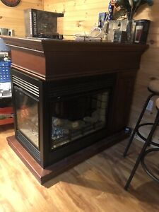 3 sided electric fireplace / bartop