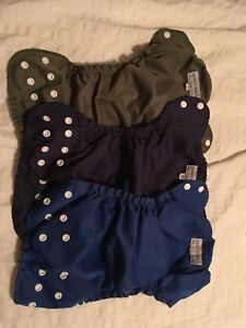3 hard to find size 2 applecheeks cloth diapers