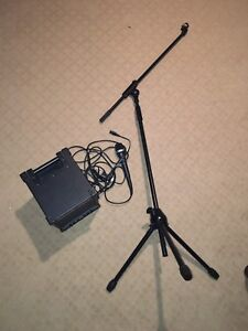 Microphone with amp and stand