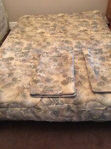 Double Comforter, Two Pillow Shams and Bed Skirt