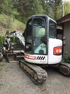Mini excavator Bobcat 430 for RENT- Kam/N Thompson Area