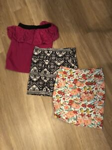 3 mini skirts $5 for ALL