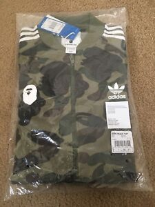 Adidas x Bape Track Top Olive Cargo Green Size Large DS