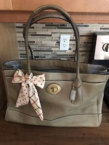 Grey Coach Handbag