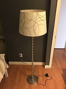 Standing lamp with shade