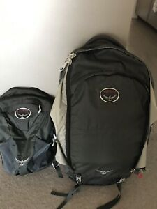 Osprey Farpoint 55 backpack and daypack NEW $200 negotiable