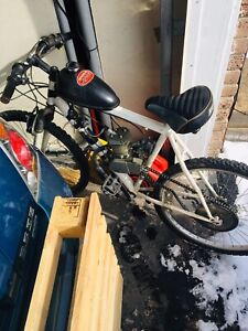 Motorized 80cc bicycle very quick