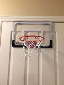 Indoor mini-basketball hoop and ball