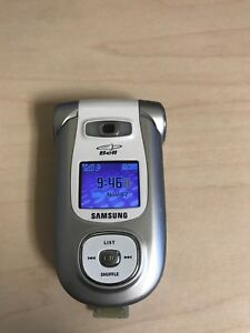 Samsung Flip Phone model SPH A920 with charger