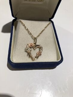 Solid 14 K Gold/ Fine Necklace and 14k pendant