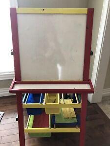Kids easel blackboard whiteboard