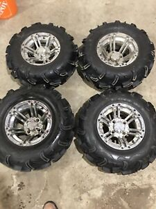 "Used 26"" Maxxis Zilla Tires on ITP SS rims"