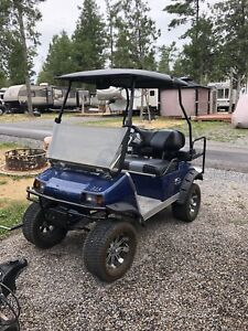 Golf cart with many upgrades