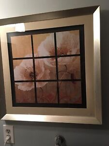 Gold Frame Poppy Picture