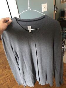 Chandail gris manche longue Tristan médium
