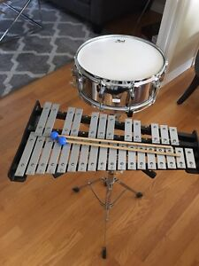 Jupiter Xylophone and Pearl Snare drum