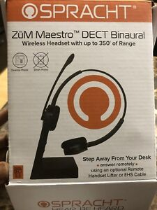 Wireless DECT Headset with up to 350 feet range.OBO