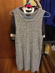 Dynamite mock neck knit tunic tank with slits - grey in small