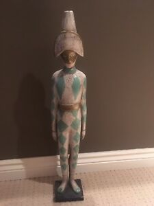 Harlequin statue home decor