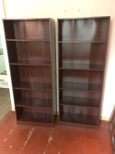 Two IKEA book shelves
