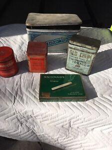 Vintage collector tins