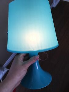 Teal self packing side lamp x 2