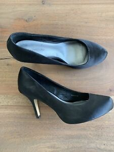 Le Chateau black satin heels