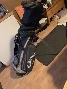 Callaway golf bag with John Daly clubs and few odds