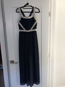 Blue maxi dress with beading from Envy