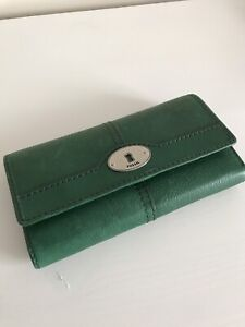Fossil Wallet - Green Leather