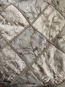 King gold and beach duvet and bed skirt