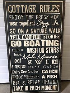 """""""Cottage Rules"""" Wall Hanging"""
