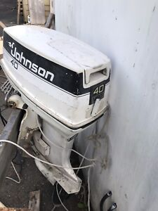 Johnson 40 hp outboard motor 1986