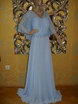 Abendkleid Ballkleid Brautkleid Kleid Übergröße in hellblau (#514), Gr. 54