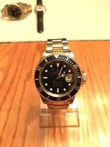 Rolex Submariner 16613 blue two tone watch