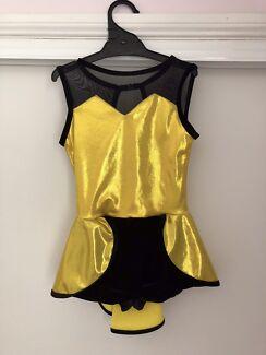 a20b837abb399 PW Dancewear Yellow   Black dress - Girls size 8