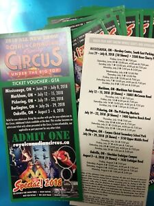 Royal Canadian Family Circus Tickets!!