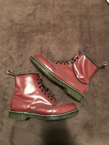 CRIMSON RED DR. MARTENS BOOTS