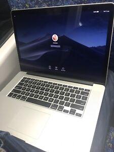 Macbook Pro Retina mid-2012, 15 inch, i7 2.3GHZ 8GB RAM 256GB SSD