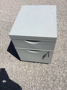Small grey ikea filing cabinet