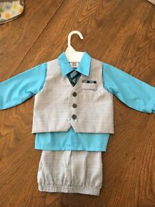 4 piece toddler/baby boy suit  New with Tags