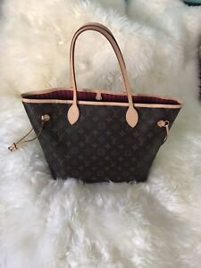 Authentic Louis Vuitton Neverfull MM Monogram with receipt/ tags