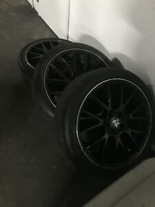 3 Michelin tires on BMW rims