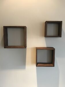 Ensemble de trois cubes décoratifs