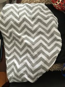 Grey chevron change pad cover