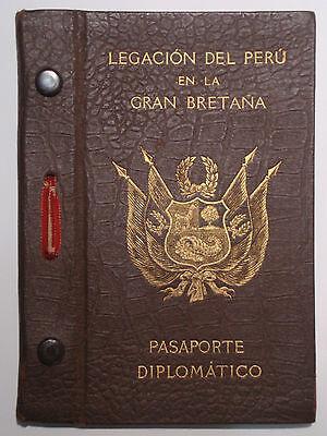 !! Diplomatenpass Peru London 1942 diplomatic passport Embassy of Peru in the UK