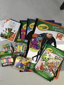 Brand New coloring books, chalk, clay, putty and videos